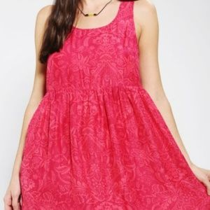 Ecote Peek-A-Boo Babydoll Dress Urban Outfitters